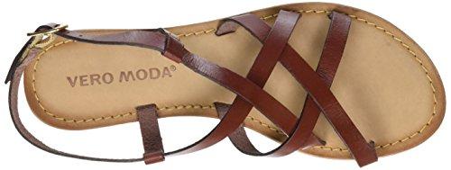Tiras Sandal Mujer para Henna Rojo Vmvina Leather Moda de Vero nHw1tXq6Ox