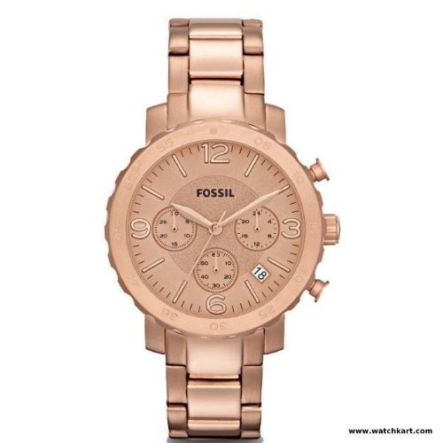 Fossil Women's AM4423 Natalie Stainless Steel Rose-Tone Watch (Fossil Athletic Watch)