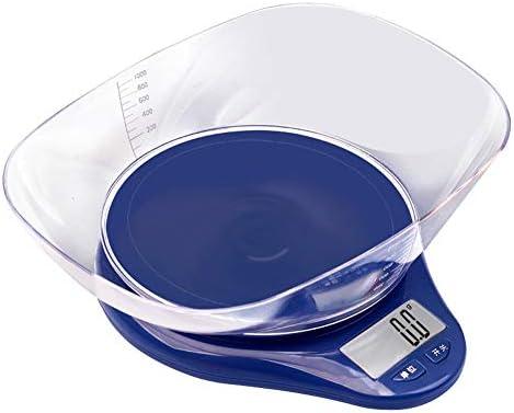 QIQIDEDIAN デジタル台所はかりスケール食品スケール液体MlとLb Oz Tl G LCDディスプレイ (Color : Blue)