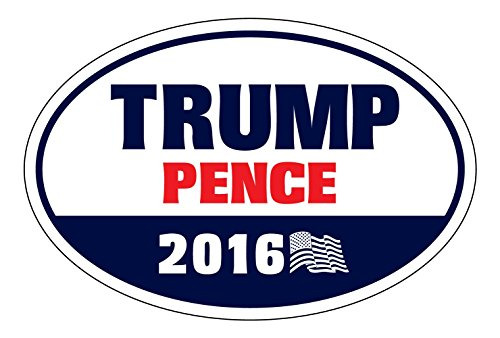 Oval-Magnet-Donald-Trump-Mike-Pence-2016-GOP-Republican-President-VP-6-x-4-Magnet