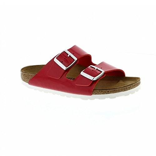 Birkenstock Arizona Narrow Fit - Patent Tango Red 1005283 (Man-Made) Womens Sandals 43 EU by Birkenstock
