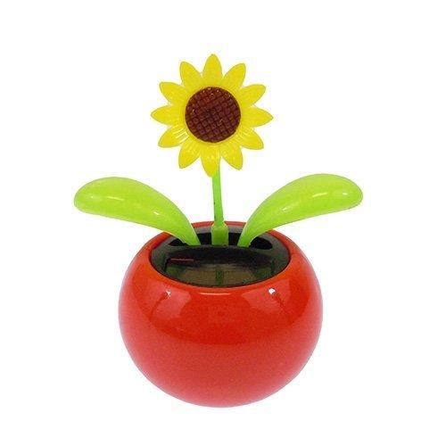 Acekid Solar Powered Dancing Flower Sunflower Office Desk & Car Decor Color Random
