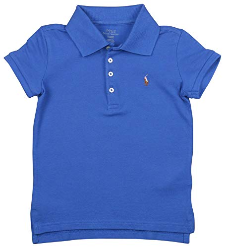 (Polo Ralph Lauren Toddler Girls' (2T-5T) Pony Polo Shirt (4T, Blue) )