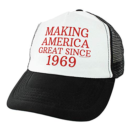ThisWear 50th Birthday Gifts Making America Great Since 1969 Conservative Hat Political Gifts USA Trucker Hat Black ()