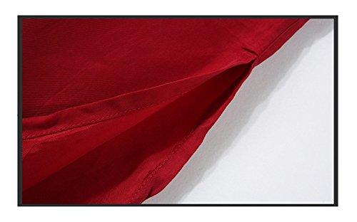 Con Rojo Yisaesa Negro Mujer L Fiesta Vestido Edad Tamaño Sin Mediana Elegante De color Mangas Frac gBzZx4g
