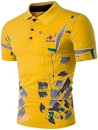 Betrothales Verano Camisa Polo De Los Hombre Casual Chic De Suzuki Diseño Polos Jersey De La Manera del Golf Tenis Camisas Tops De Las Camisetas: Amazon.es: Ropa y accesorios
