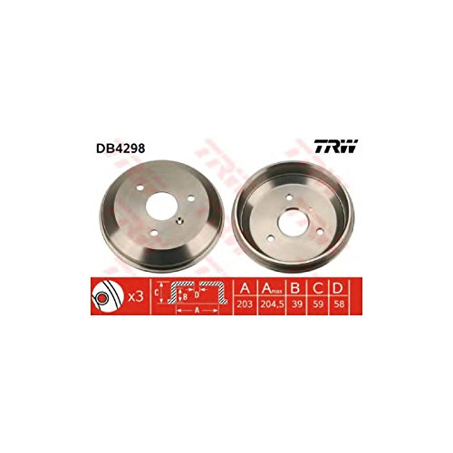 TRW DB4298 Brake Drums: