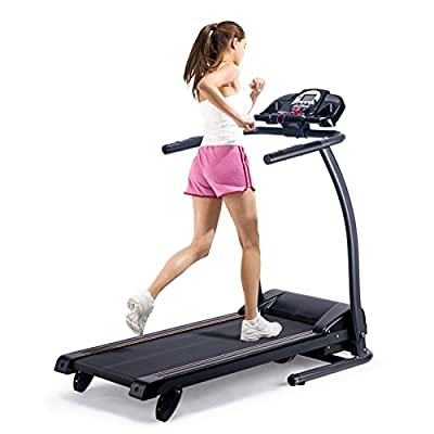 Pinty Folding Electric Treadmill Incline Motorized Running Machine for Home with LED Display, MP3 Player, Emergency Stop, Miles Track