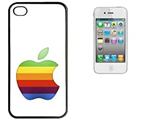 iPhone 4 4S Hard Case With Printed High Gloss Insert Apple Logo