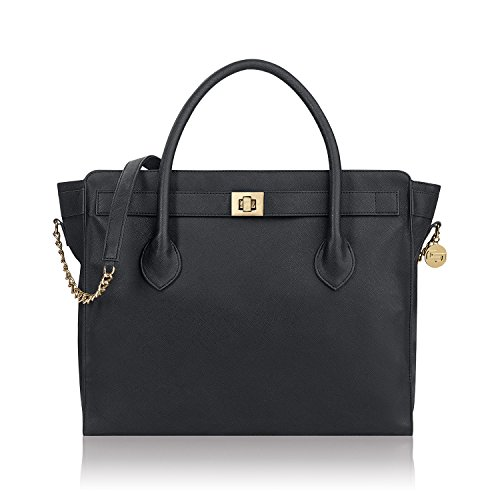 (Solo Madison Tote Bag with Laptop Compartment, Black)