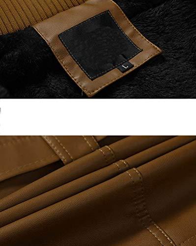 Ceinture Pour À Vêtements Cuir Pu Bmanteau Biker Dessus Hommes Homme En Longues Veste Zipper Kaki De Manches Avec xwqRaIx0nF