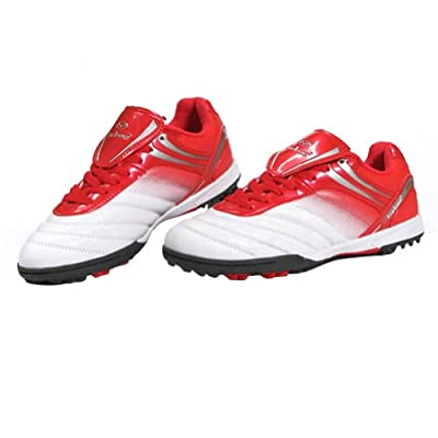 Tiebao Boys' Hard Ground Indoor Speed Patent Leather Football Shoe