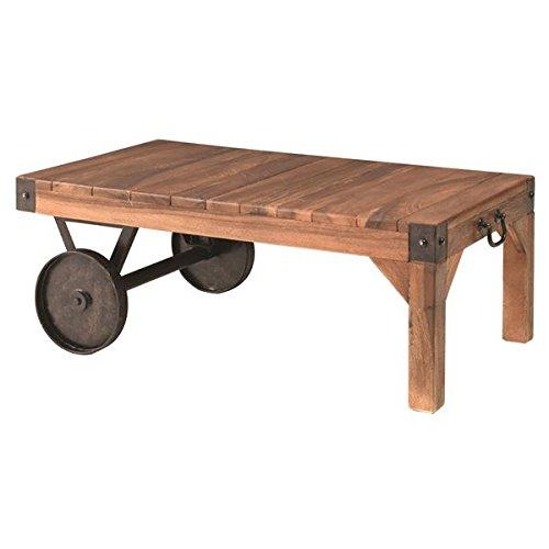 インテリア 家具 便利 おしゃれ サイドテーブル(トロリー型テーブルS) 木製/アイアン TTF-117 B01HT34HCM