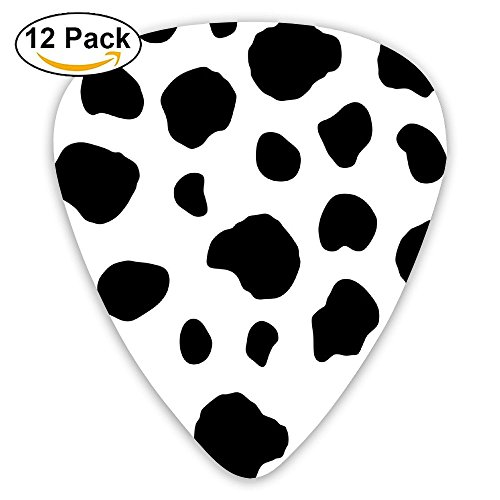 Cow Print Sampler Guitar Picks - 12 Pack Complete Gift Set For Guitarist Best Gift For Guitarist