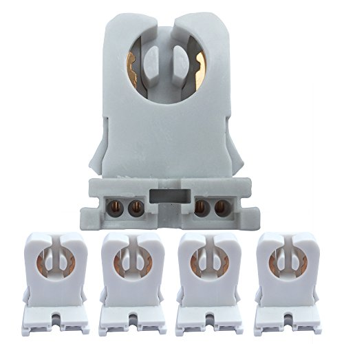 Non-shunted Turn Type 4-Pack UL Listed T8 Lamp Holder Tombstone Sockets LED Fluorescent Tube ()