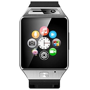 Smartwatch Bluetooth cámara reloj teléfono inteligente Plata ...