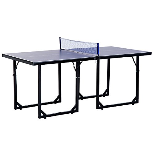 Aosom 72'' Folding Compact Multi-Use Table Tennis Table with Net and Post by Aosom