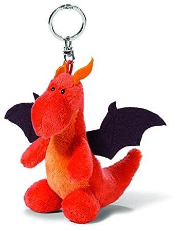 NICI - Llavero de peluche Dragón, color rojo y negro (37467)