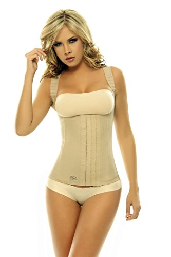 Women's Shapewear Skin Color Latex Vest Girdle with Black...