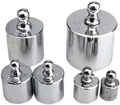 SODIAL R Poids de calibrage 6pcs 100g 50g 20g 10g 5g portable haute precision mini digital bijoux diamant poids pesant echelle farmar et pinces