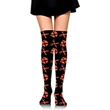 Sewing Scissors Womens Over The Knee Thigh High Stockings Sexy Socks