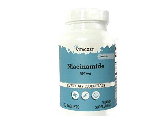 Vitacost Niacinamide (Vitamin B-3) - No Flush Niacin -- 250 mg - 100 Tablets