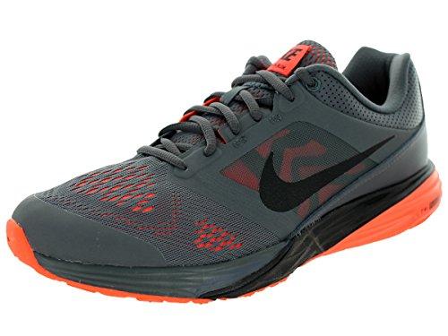 Nike Tri Fusion Run, Zapatillas de Running para Hombre Gris / Negro / Naranja (Dark Grey / Black-Hyper Orange)