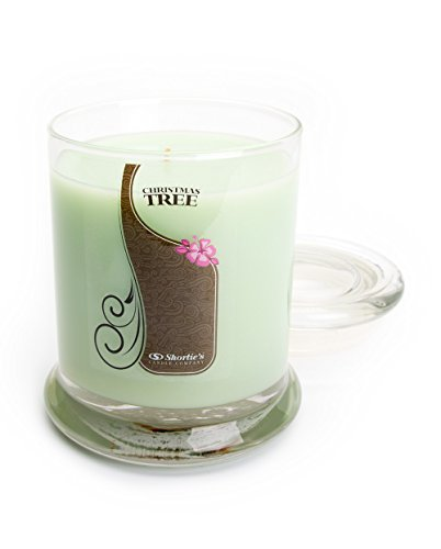 Christmas Tree Candle - 10 Oz. Highly Scented Green Jar Candle - Christmas Candles Collection