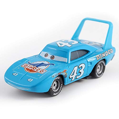 - Disney Disney Pixar Cars Gold Dinoco Blue Black Police Lightning McQueen Diecast Toy Car 1:55 Loose Toys for Children Gift 4