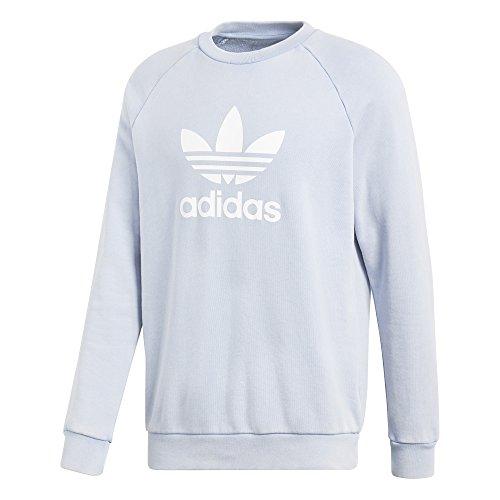 adidas Originals Men's Trefoil Crew Sweatshirt Ash Blue XX-Large