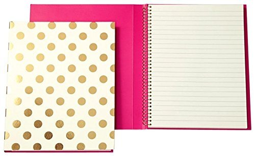 kate spade new york Spiral Notebook - Gold Dots by Kate Spade New York