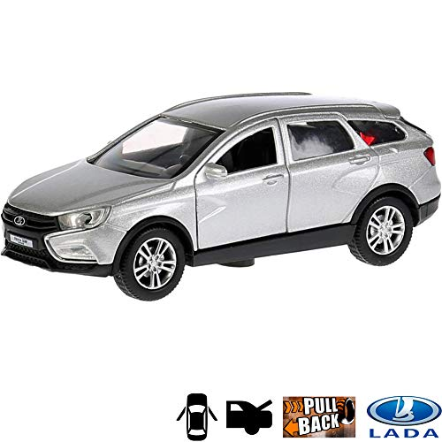 (1:36 Scale Diecast Metal Model Car Lada Vesta SW Cross 5-seat Off-Road Vehicle Russian Die-cast Toy Cars)