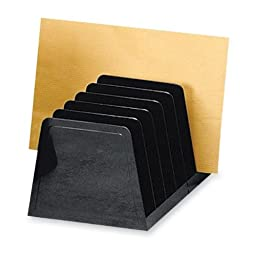 Sparco Incline Desk Sorter, 7 Compartments, 8-3/4 x 5-1/2 x 4-3/4 Inches, Black (SPR11876) (4-PACK)