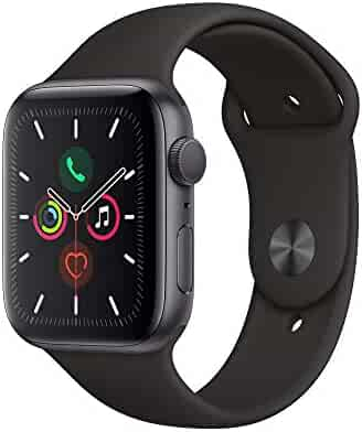 Apple Watch Series 5 (GPS, 44mm) - Space Gray Aluminum Case with Black Sport Band