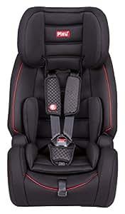 Piku GLOBE, Silla de coche grupo 1/2/3 Isofix, negro/rojo