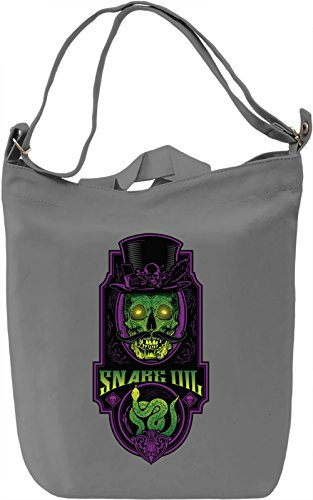 Snake oil Borsa Giornaliera Canvas Canvas Day Bag| 100% Premium Cotton Canvas| DTG Printing|
