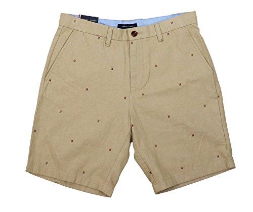 Tommy Hilfiger Golf Shorts - Tommy Hilfiger Lex Scattered Logo Print Flat Front Shorts (Arizona, 33)
