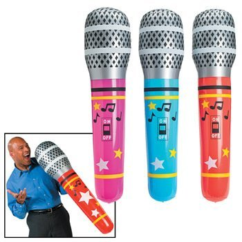 Giant Inflate Microphone (6 pieces) - Bulk