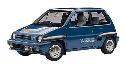 AUTOart 1/18 Honda City Turbo II (Blue) ¦ Motokonpo / White