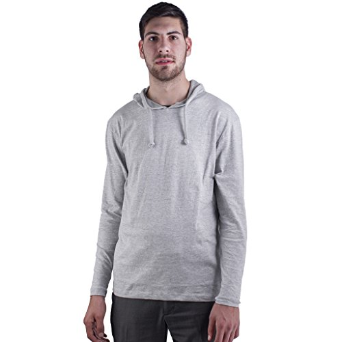 ARCTIC POLE Mens Lightweight Tri Blend Hoodie Tee Shirt NO (Heather Lightweight Hoodie)