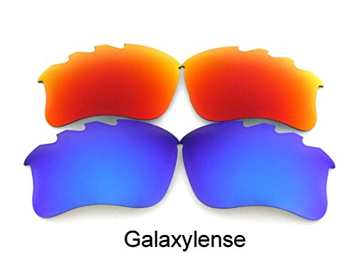 (Galaxy Replacement Lens For Oakley Flak Jacket xlj VENTED Sunglasses Blue/Red Polarized)