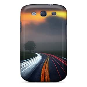 For Galaxy S3 Premium Tpu Cases Covers Road 3d Protective Cases