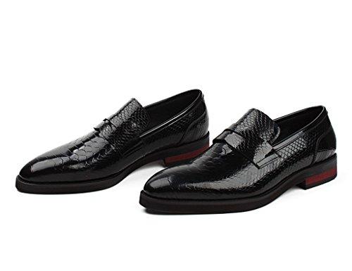Herren Lederschuhe Herren Lederschuhe britischen Stil Business Formelle Abnutzung wies Hochzeitsschuhe Herrenschuhe ( Farbe : Schwarz , größe : EU43/UK8 ) Schwarz