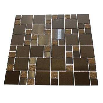 Amazon Com Cask Industries Dark Mosaic Tile Stone And
