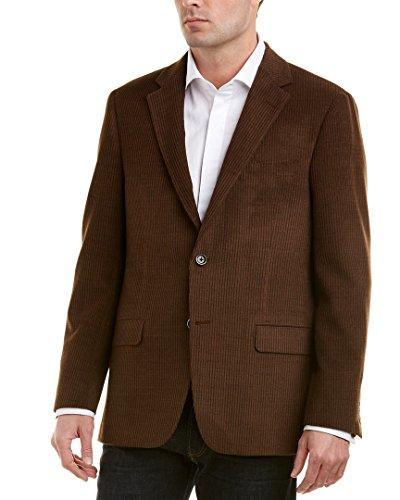 Hickey Freeman Mens Milburn Ii Wool Sportcoat, 44L, Brown