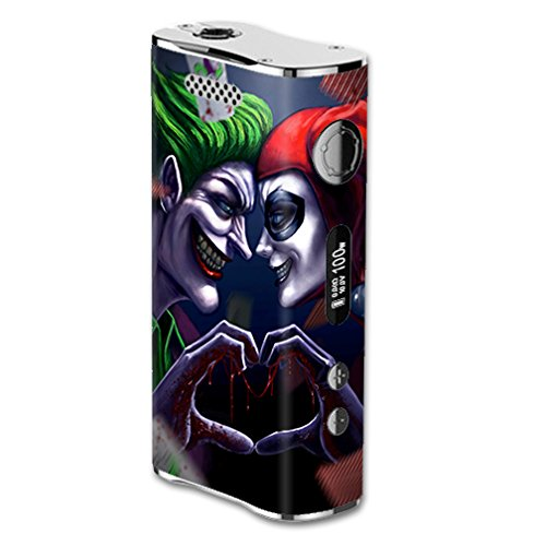 Skin Decal Vinyl Wrap For ELeaf IStick 100W Vape Mod Box / Harleyquin And Joke Love
