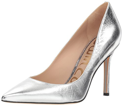(Sam Edelman Women's Hazel Pump, Soft Silver Distressed Leather, 9.5 M US)