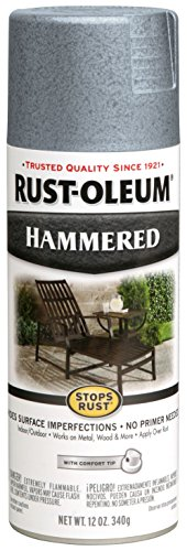 - Rust-Oleum 7212830 Hammered Metal Finish Spray, Light Blue, 12-Ounce