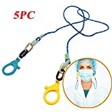 DDYIIO Face Cover Lanyard Handy&Convenient Rest&Ear Holder Rope 5PCs Nylon