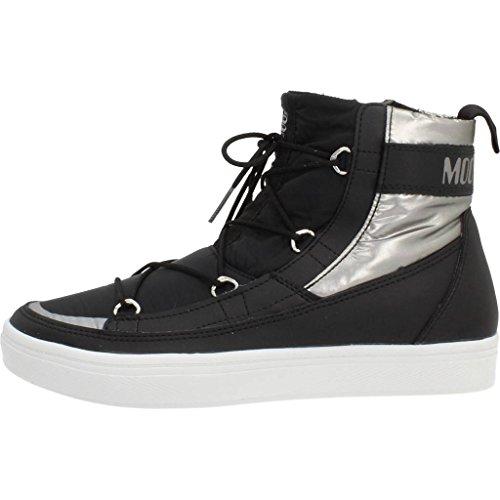 Botas para mujer, color Negro , marca MOON BOOT, modelo Botas Para Mujer MOON BOOT MB VEGA Negro Black / Silver